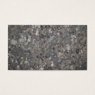 Bild des Bodens mit Steinen Visitenkarte