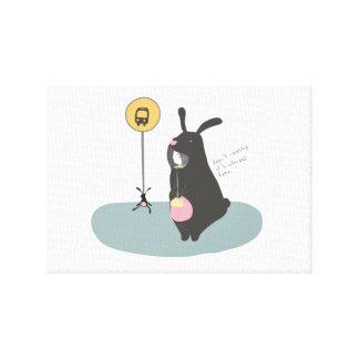Bild des verkleidet Kindes des Kaninchens Leinwanddruck