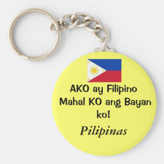 Bilder, Pilipinas, AKO ay Filipino Mahal KO ANG… Standard Runder Schlüsselanhänger