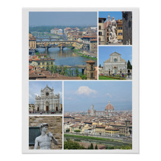 Bilder von Florenz Poster