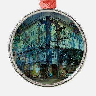 Bilding San Francisco Silbernes Ornament