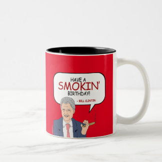 Bill Clinton-Gruß - haben Sie einen Smokin Zweifarbige Tasse