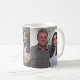 Bill Clinton u. die Trümpfe an den U.S. Open 2000 Kaffeetasse
