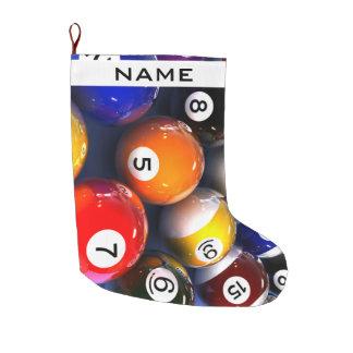 Billard-Pool-Ball-WeihnachtsStrumpf Großer Weihnachtsstrumpf