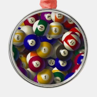 BILLARD-POOL-BALL-WEIHNACHTSverzierung Silbernes Ornament