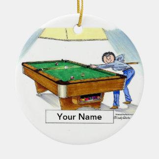 Billard, Pool-Spieler - Frau Keramik Ornament