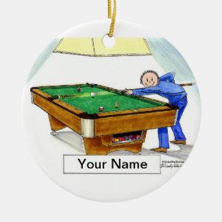Billard, Pool-Spieler - Mann Keramik Ornament