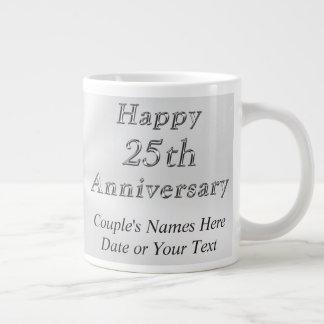 Billige personalisierte 25. Jahrestags-Geschenke, Extragroße Tasse