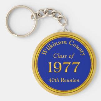 Billige personalisierte Klasse von Keychains 1977 Schlüsselanhänger