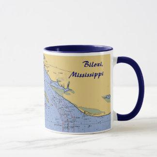 Biloxi, Mississippiseehafen-Diagramm-Tasse Tasse