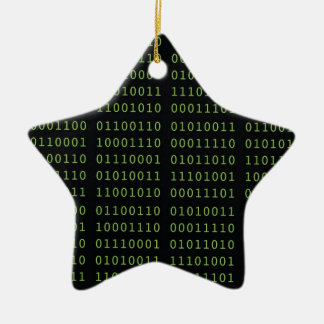 Binärer Code Keramik Ornament