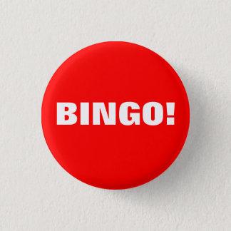 BINGO! Knopf Runder Button 3,2 Cm