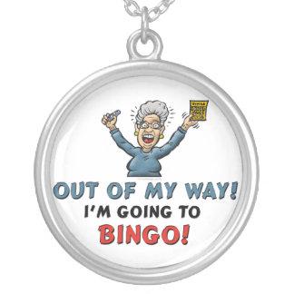 Bingo-Liebhaber Halskette Mit Rundem Anhänger