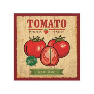 """Bio Tomate 8"""""""" hölzerne Kunst der Wand-x8 Holzdrucke"""
