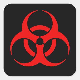Biogefährdung-Symbol Quadrat-Aufkleber