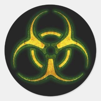 Biogefährdung-Zombie-Warnung Runder Aufkleber