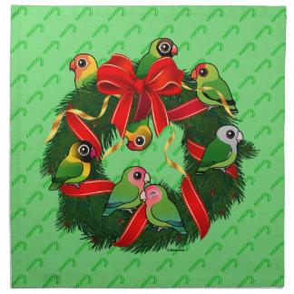 Birdorable Lovebirds-WeihnachtsKranz Stoffserviette