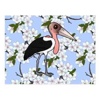 Birdorable Marabu-Storch Postkarte