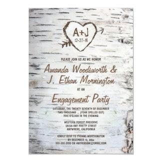 Birken-Baum-Barken-Verlobungs-Party Einladungen