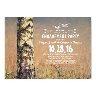 Birkenbaum u. rustikales Verlobungs-Party des 12,7 X 17,8 Cm Einladungskarte