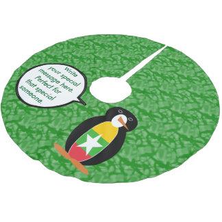 Birmane-oder Myanmar-Feiertags-Herr Penguin Polyester Weihnachtsbaumdecke