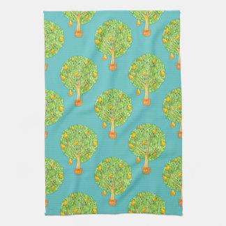 Birnen-Baum-Muster-aquamarines Küchen-Tuch Küchentuch