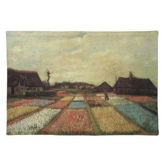 Birnen-Felder durch Vincent van Gogh. Stofftischset