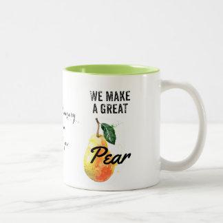 Birnen-Tasse, Valentine, Jahrestag, Mamma-Tasse, Zweifarbige Tasse