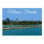Biscayne Bucht-Miami Beach-Florida-Reise-Postkarte