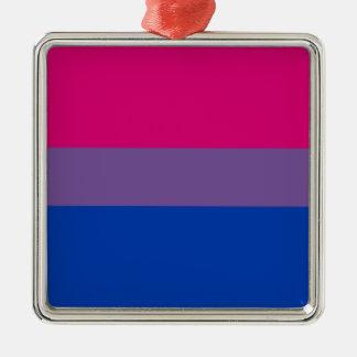 Bisexuelle LGBT Stolz-Regenbogen-Flagge Silbernes Ornament