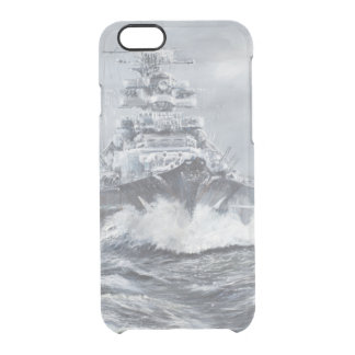 Bismarck vor Grönland-Küste 1900hrs 23rdMay Durchsichtige iPhone 6/6S Hülle
