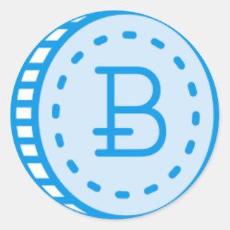 Bitcoin Bluez Runder Aufkleber