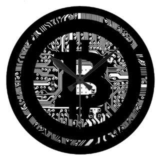 Bitcoin - das Internet des Geldes Große Wanduhr