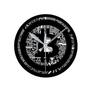 Bitcoin - das Internet des Geldes Wanduhr