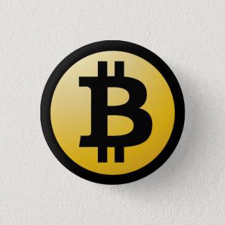 Bitcoin Knopf Runder Button 3,2 Cm