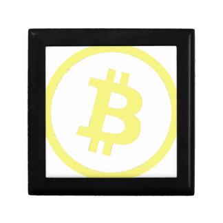 Bitcoin Logo Kleine Quadratische Schatulle