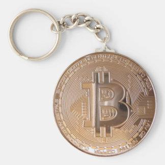 Bitcoin metallic made of copper. M1 Standard Runder Schlüsselanhänger