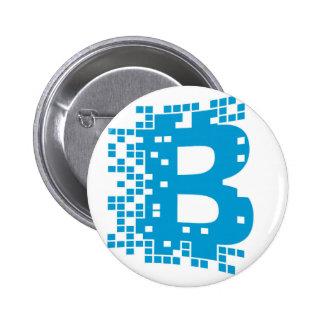 Bitcoin Waren Runder Button 5,7 Cm