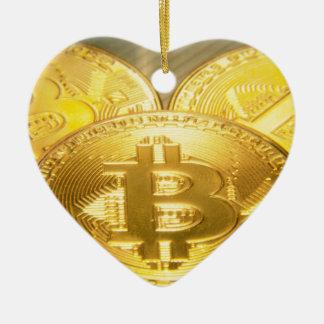 Bitcoins makro großes rundes mojo keramik ornament