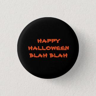Blabla Blabla schwarze Halloween-Knöpfe Runder Button 2,5 Cm
