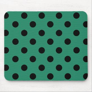 Black polka dots in den Green Mauspads
