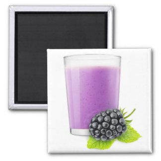 BlackBerry Smoothie Quadratischer Magnet