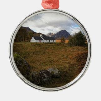 Blackrock Hütte, Glencoe, Schottland Rundes Silberfarbenes Ornament