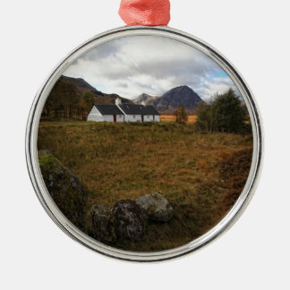 Blackrock Hütte, Glencoe, Schottland Silbernes Ornament