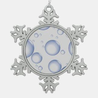 Blasen Schneeflocken Zinn-Ornament