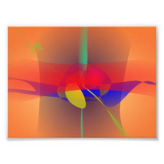 Blasser orange und blauer Kontrast Photographischer Druck