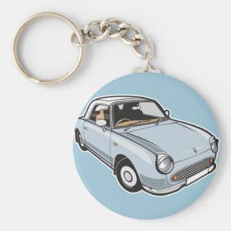 Blasses Aqua Nissan Figaros Schlüsselanhänger