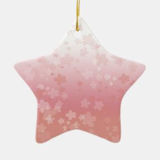 Blasses Blüten-Rosa Keramik Stern-Ornament