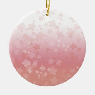 Blasses Blüten-Rosa Rundes Keramik Ornament