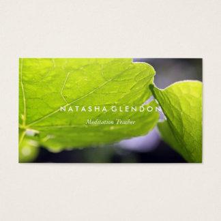 Blatt-grüne Natur-Zen-Visitenkarte Visitenkarten